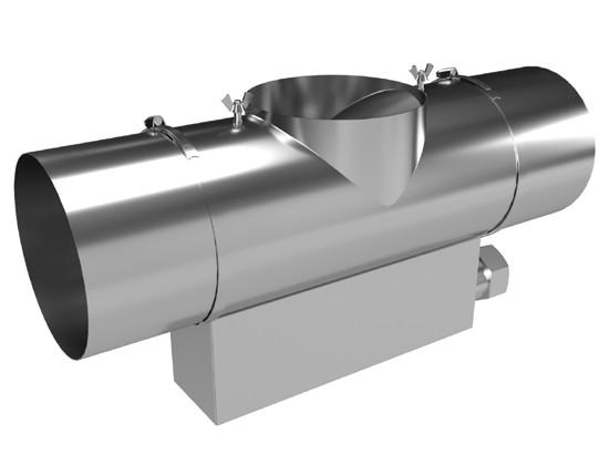 T-Stück mit Aschebox Airjekt 1® Basic | Kutzner + Weber