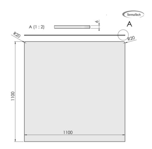 Glasbodenplatte ESG 6mm Klarglas | Quadratisch