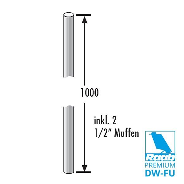 Verlängerung für Halter, 1000 mm | Raab PREMIUM – DW-FU