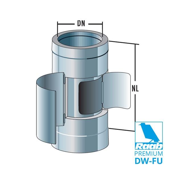 Rohrelement mit Kugelfang und Ruß-Auffangschale | Raab PREMIUM – DW-FU