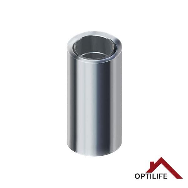 Edelstahlschornstein Wanddurchführung 500 mm | Raab BASIC – DW 25 Optilife