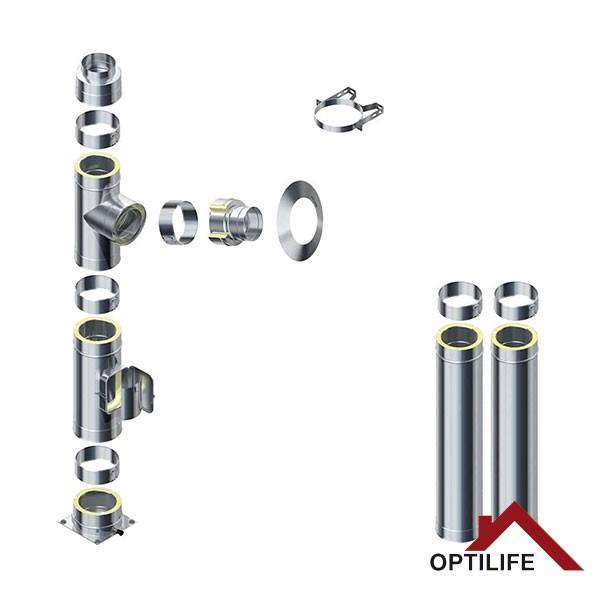 Raab DW 25 Optilife Bausatz - 3,2 m Schornstein