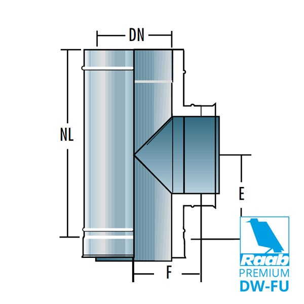 Feuerungsanschluss 90° | Raab PREMIUM – DW-FU