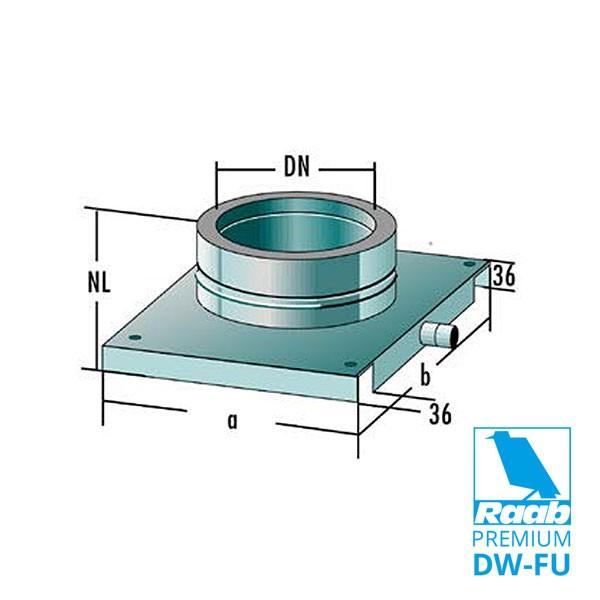 Fussteil Wand-/Bodenmontage | Raab PREMIUM – DW-FU