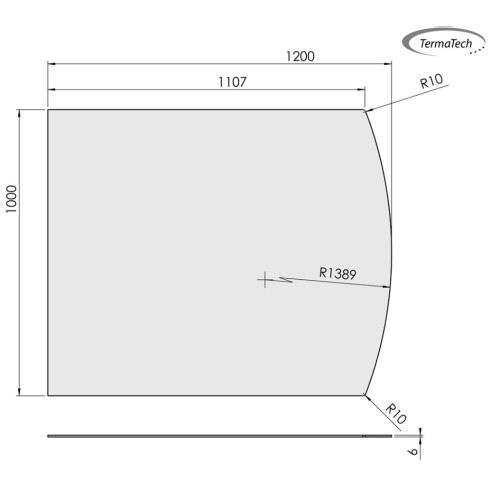 Glasbodenplatte ESG 6mm Klarglas | Segmentbogen